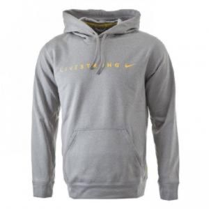 Nike Men's Therma Fit Livestrong Hoodie Grey